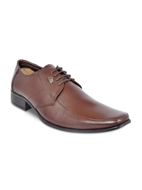 Allen Cooper Men Brown Leather Formal Derbys