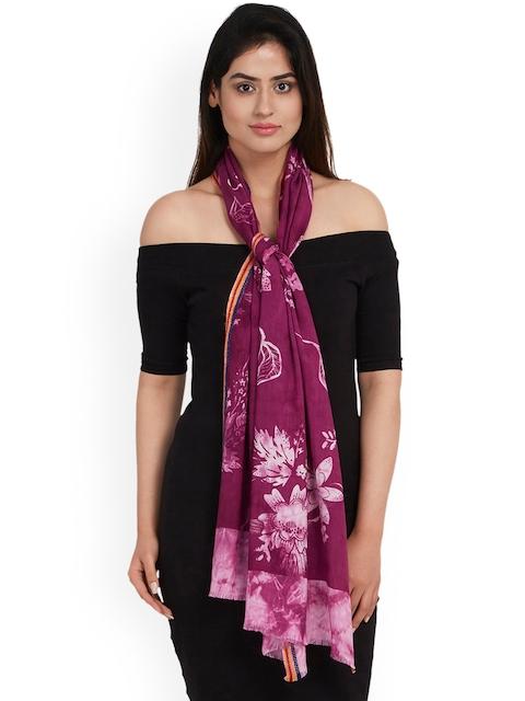 SHINGORA Women Purple Printed Stole