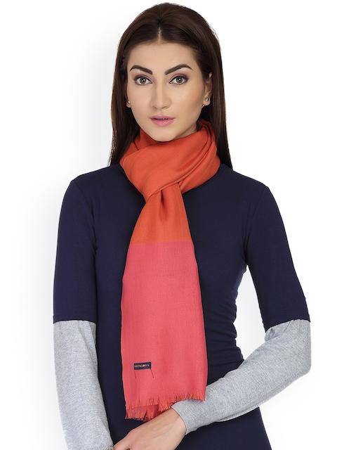SHINGORA Women Orange & Pink Ombre Woolen Stole