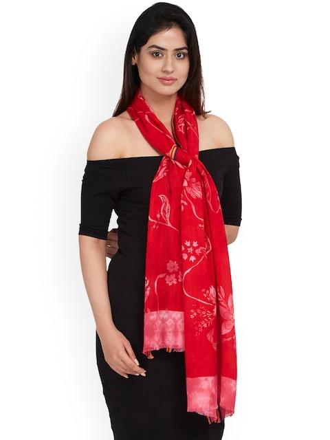 SHINGORA Women Red Printed Stole