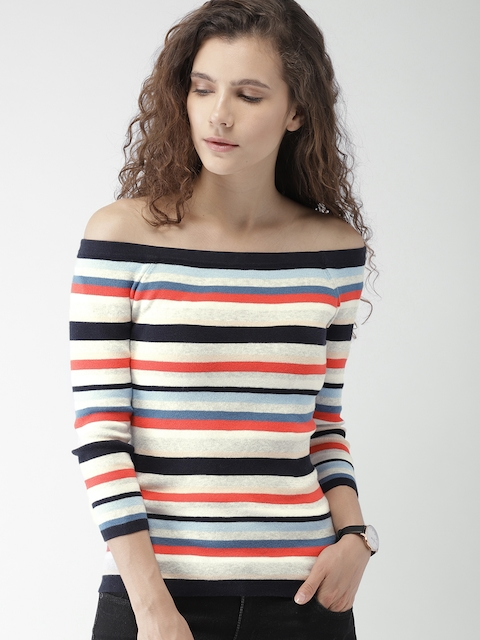 Tommy Hilfiger Women Multicoloured Striped Pullover