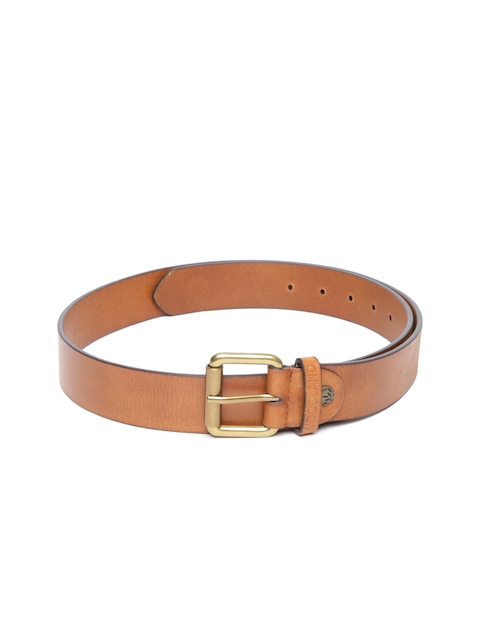 208885a54a0 40%off Woodland ProPlanet Men Tan Brown Solid Leather Belt