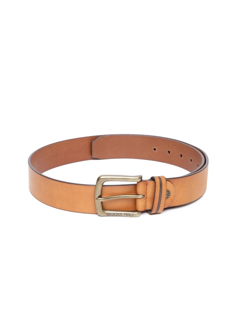 Woodland ProPlanet Men Tan Brown Solid Leather Belt