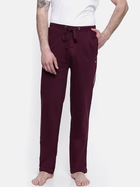 Park Avenue Men Maroon Track Pants