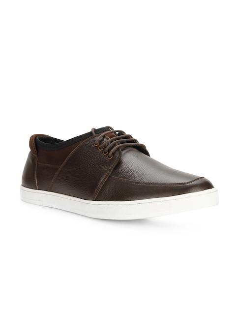 Allen Solly Men Brown Genuine Leather Sneakers