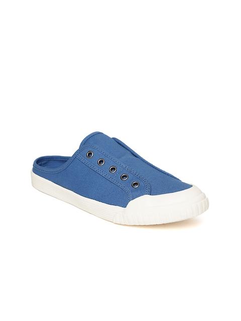 United Colors of Benetton Women Blue Slip-On Sneakers