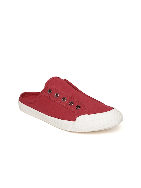 United Colors of Benetton Women Red Slip-On Sneakers