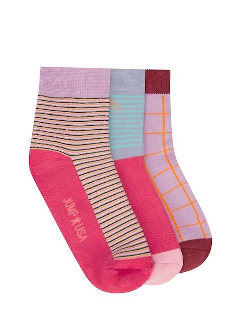 JUMP USA Women Pack of 3 Ankle Length Socks