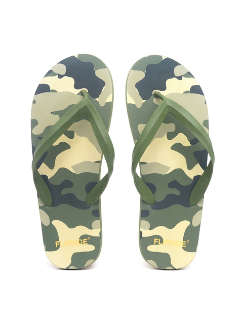 Flipside Men Green & Blue Flip-Flops