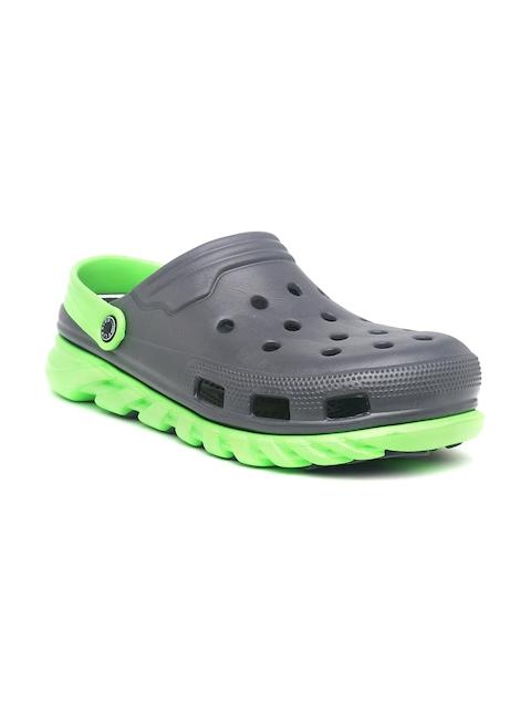 Flipside Men Green & Grey Clogs