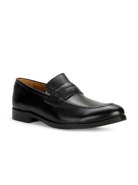 Van Heusen Men Black Semi-Formal Leather Slip-Ons