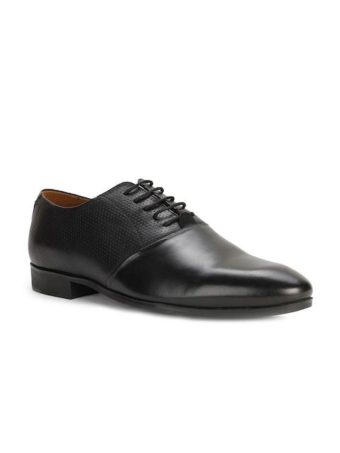 Van Heusen Men Black Leather Formal Oxford Shoes