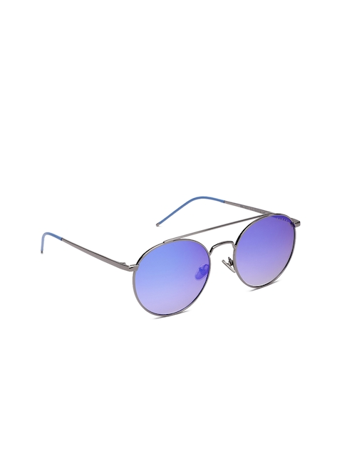 Farenheit Unisex Mirrored Round Sunglasses SOC-FA-9021-C2