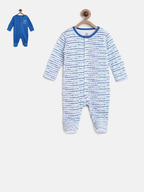 MINI KLUB Kids Boys Pack of 2 Sleepsuit