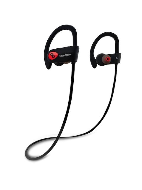 CrossBeats Unisex Black Wave Wireless Bluetooth Earphones with Mic RU9