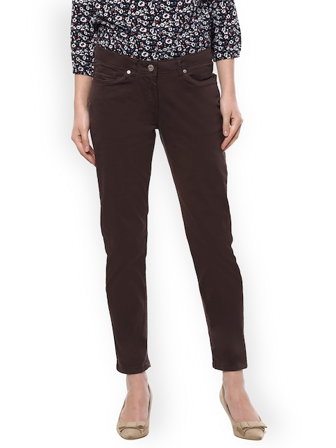 Allen Solly Woman Brown Slim Fit Mid-Rise Clean Look Jeans