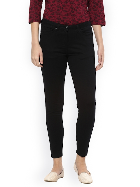 Allen Solly Woman Women Black Slim Fit Mid-Rise Clean Look Stretchable Jeans