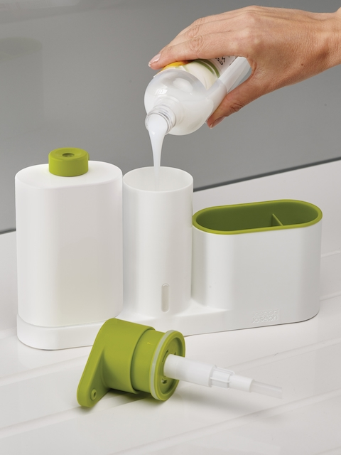 Joseph Joseph Caddy Set with Soap Pump & Detergent Bottle