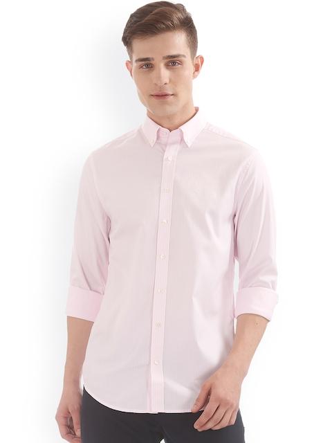 GANT Men Pink Regular Fit Striped Casual Shirt