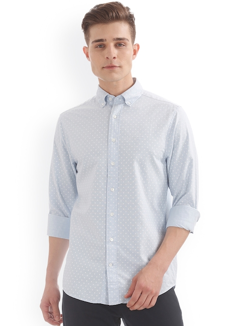 GANT Men Blue Regular Fit Printed Casual Shirt