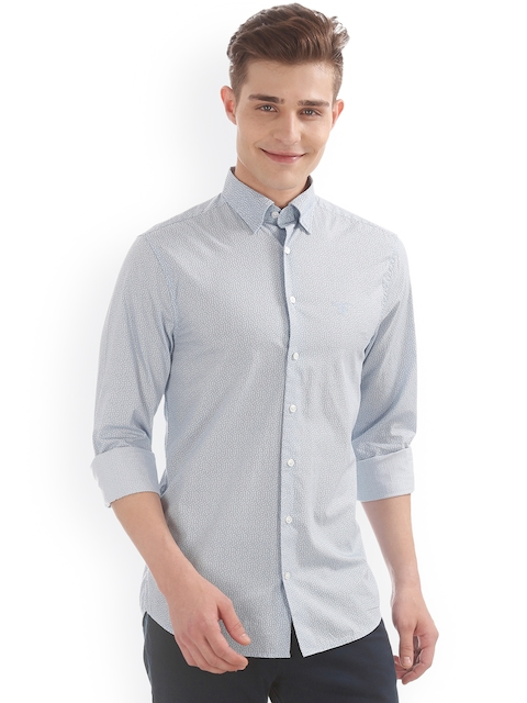 GANT Men Blue Printed Casual Shirt