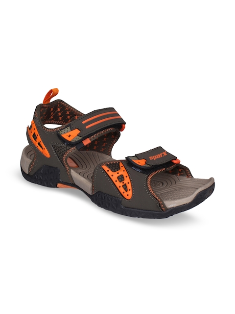 Sparx Men Olive Green & Orange Comfort Sandals