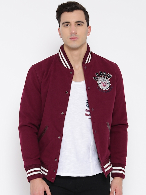 Arrow Sport Men Burgundy Sports Jacket
