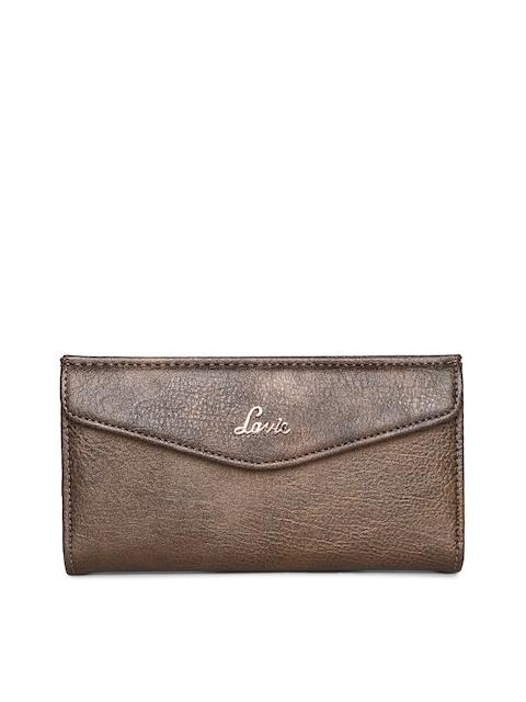 Lavie Women Copper-Toned Solid Two Fold Wallet