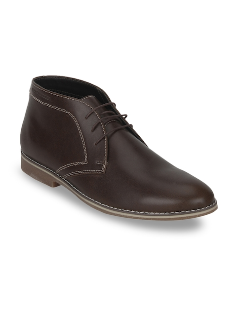 Red Tape Men Coffee Brown Flat Boots