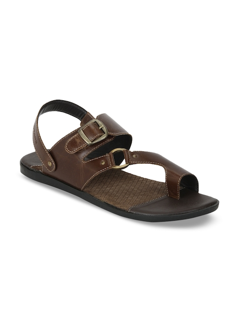 Red Tape Men Brown Comfort Leather Sandals