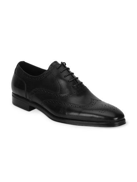 Park Avenue Men Black Leather Formal Brogues