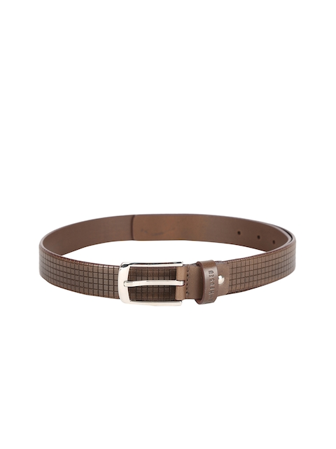 Van Heusen Men Brown Textured Leather Belt