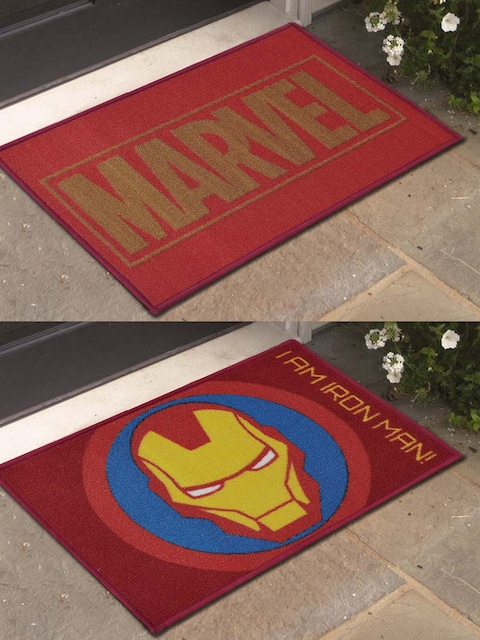 Marvel Set of 2 Printed DoorMats