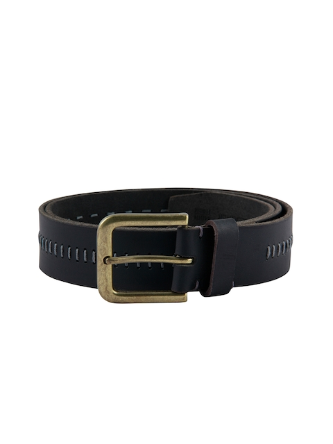 Kara Men Black Solid Belt
