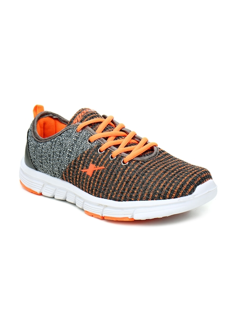 Sparx Women Grey And Orange Running Shoes