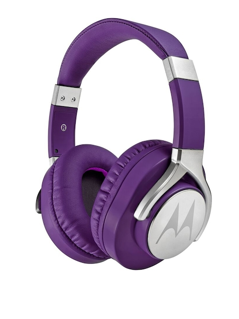 Motorola Unisex Purple Pulse Max Wired Headphones