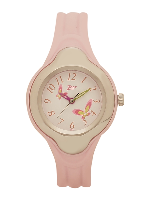 Zoop Kids Cream-Coloured Analogue Watch NKC2001PP03