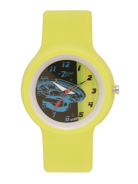 Zoop Kids Black & Yellow Analogue Watch NKC3029PP08