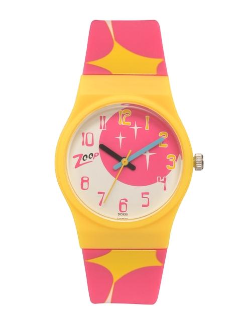 Zoop Kids Pink & White Analogue Watch NKC3028PP07