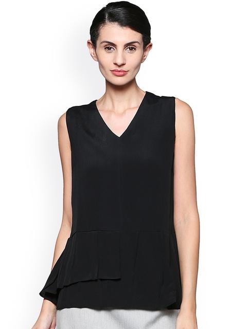 Van Heusen Woman Black Solid Top