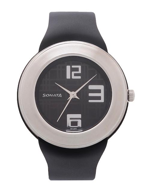 Sonata Women Black Digital Watch NK8991PP03