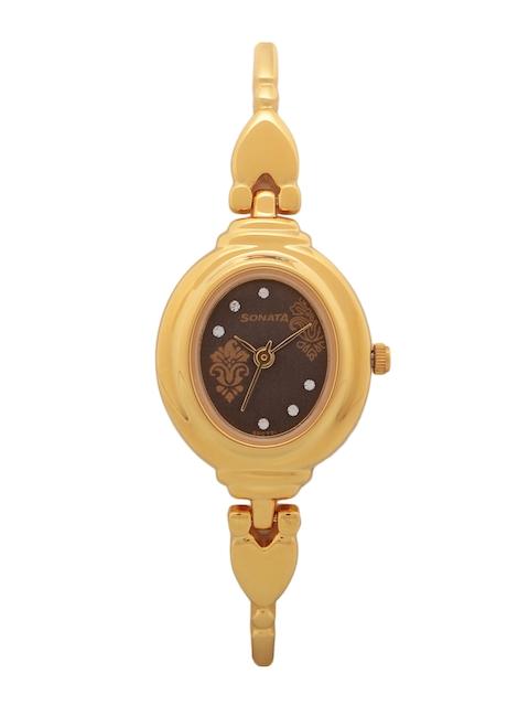 Sonata Women Brown Analogue Watch NK8092YM02