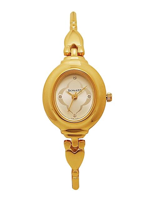 Sonata Women Gold-Toned Analogue Watch NK8092YM03