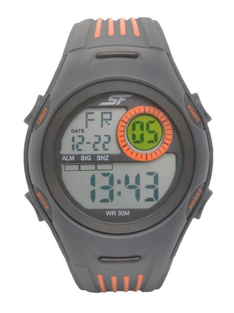 Sonata Men Grey Digital Watch 77072PP05