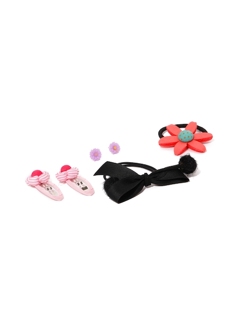 Golden Peacock Girls Set of 4 Hair Accessory Set with Earrings