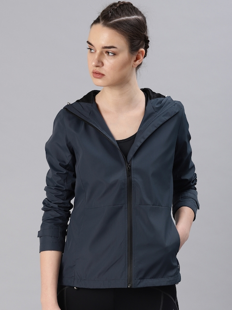HRX by Hrithik Roshan Women Blue Solid Sporty Jacket