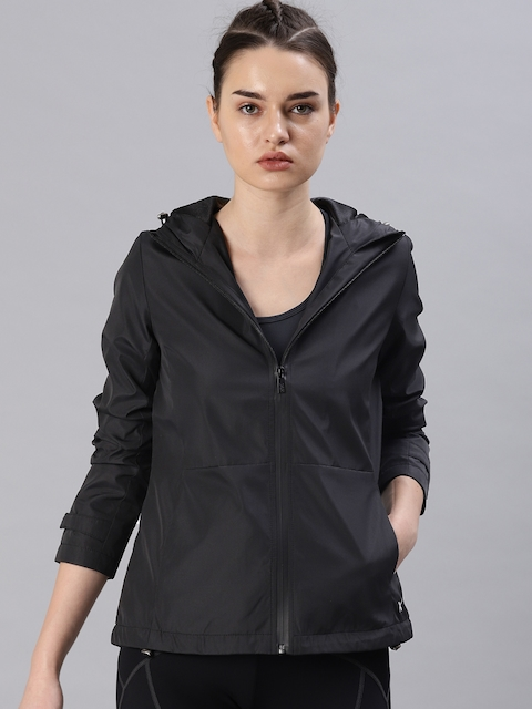 HRX by Hrithik Roshan Women Black Active Solid Sporty Jacket