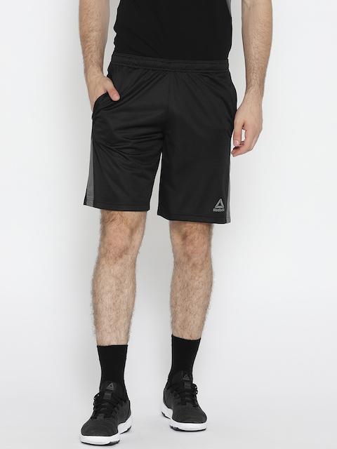 Reebok Men Black Workout Mesh Sports Shorts