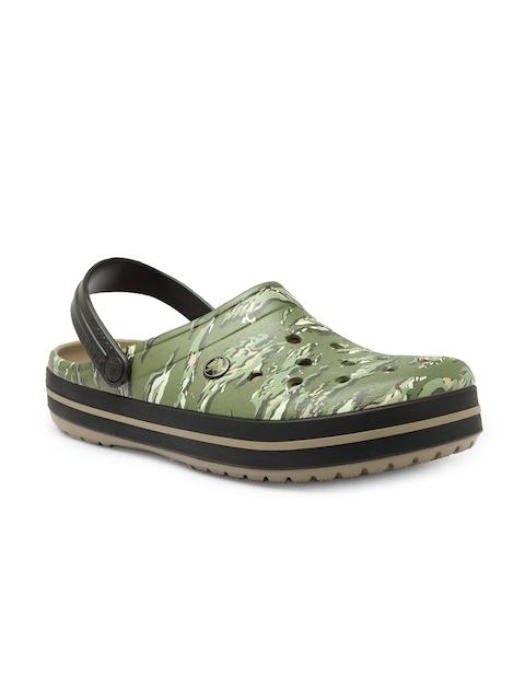 Crocs Men Green Clogs