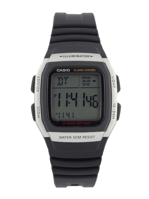 CASIO Men Black Digital Small Dial Watch D031
